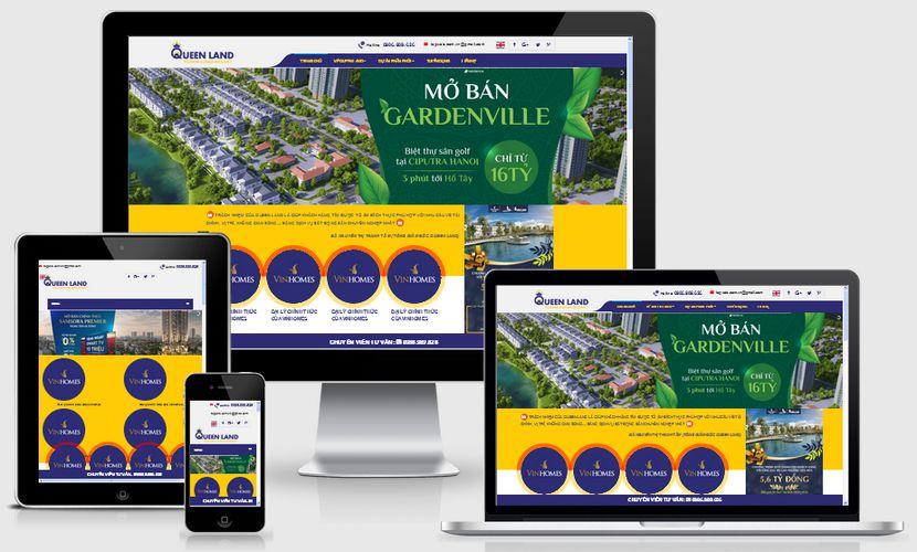Mẫu website nhà đất Qeenland