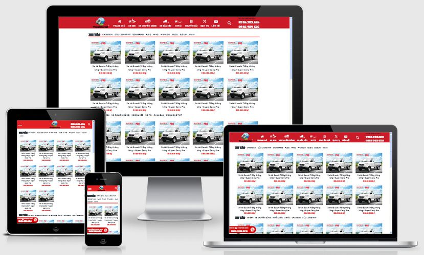 Mẫu website thế giới xe tải