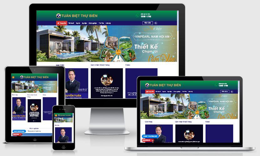 Mẫu website môi giới bất động sản