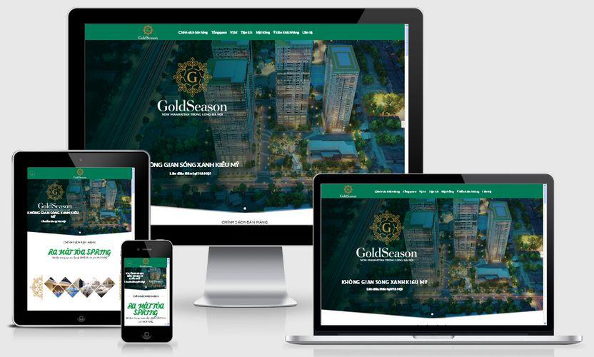 Mẫu website dự án chung cư cao cấp