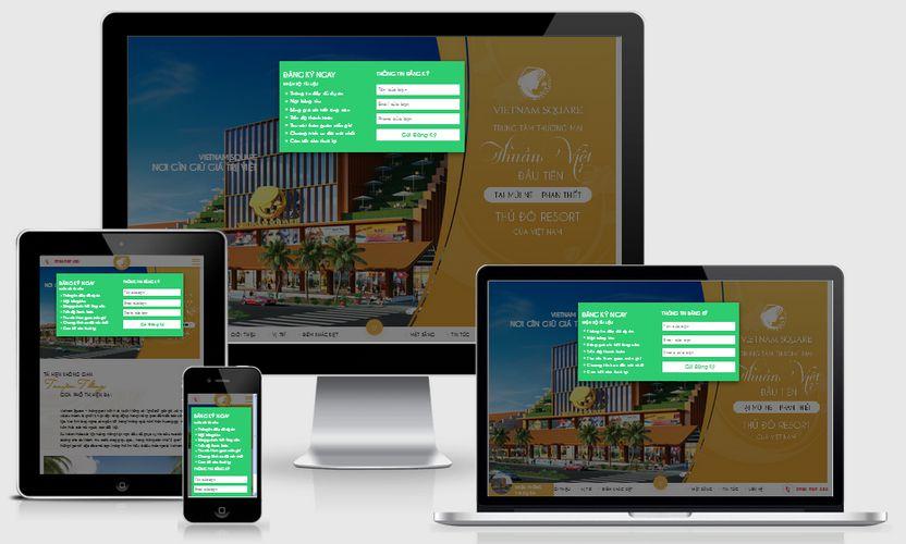 Mẫu website bất động sản nghỉ dưỡng