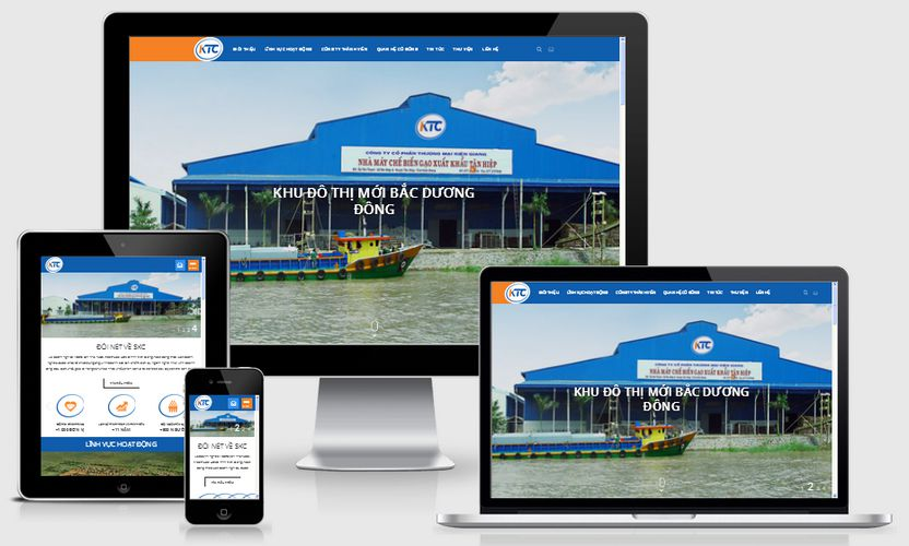 Mẫu website giới thiệu công ty KTC