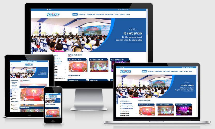 Mẫu website công ty tổ chức sự kiện
