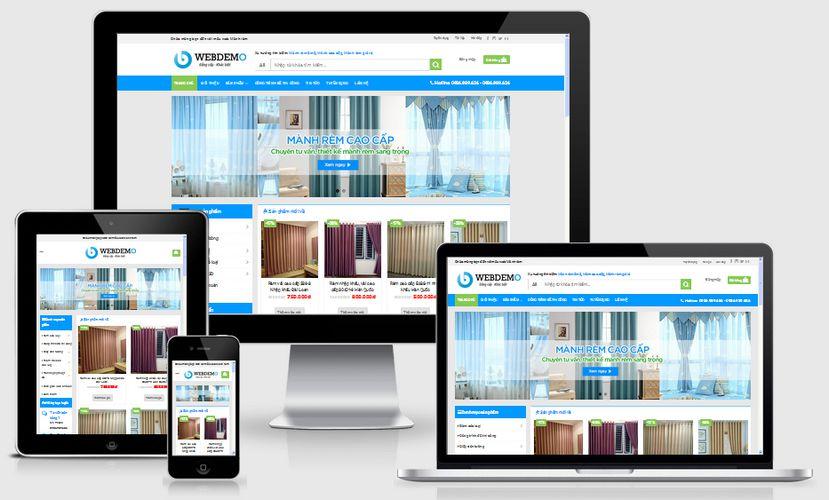 Mẫu website mua bán mành rèm