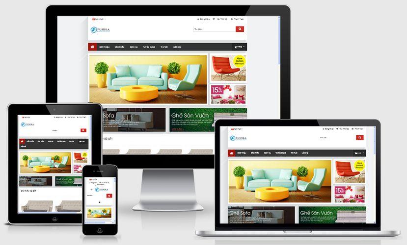 Mẫu website bán nội thất gia đình