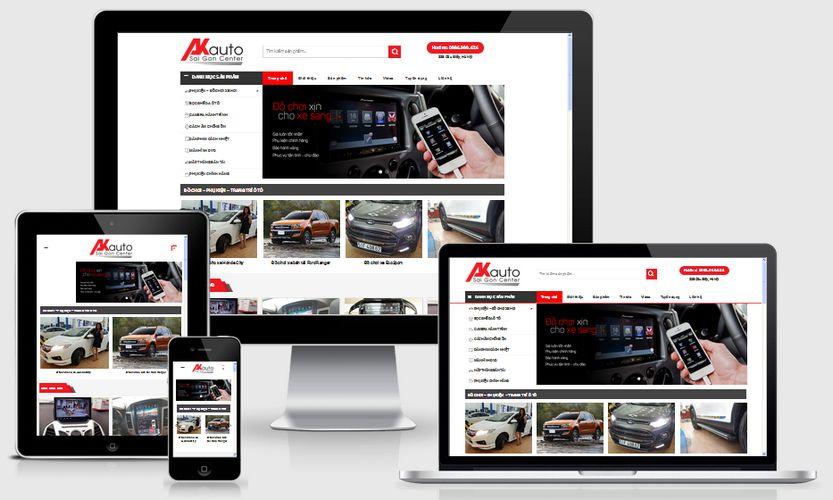 Mẫu website bán phụ kiện đồ chơi ô tô