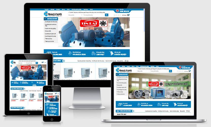 Mẫu website bán quạt công nghiệp