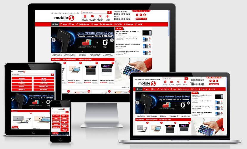 Mẫu website thế giới điện thoại di động