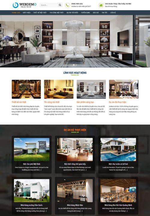 Mẫu website thiết kế thi công nội thất 9