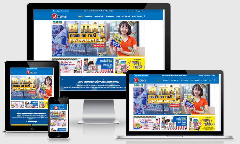Mẫu website bán sách online