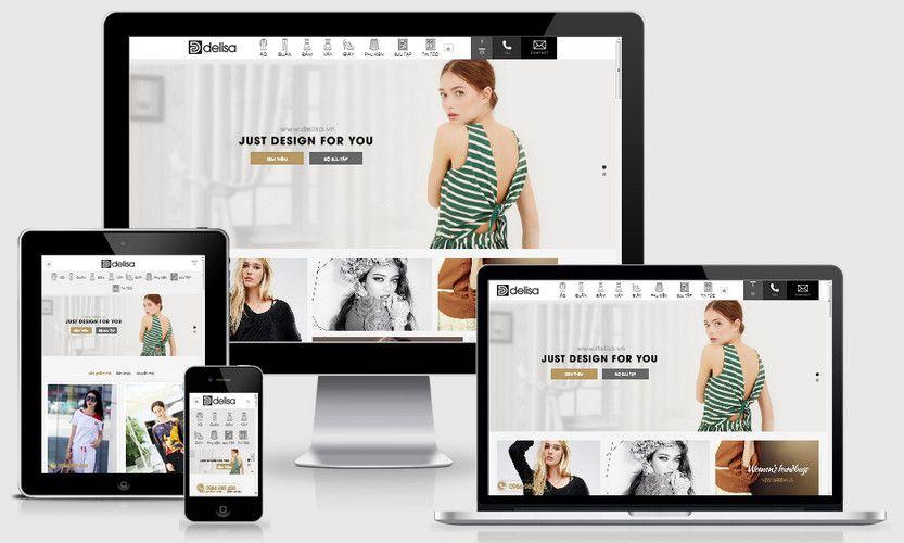 Mẫu website thời trang thiết kế