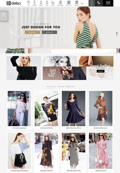 Mẫu website thời trang thiết kế 8