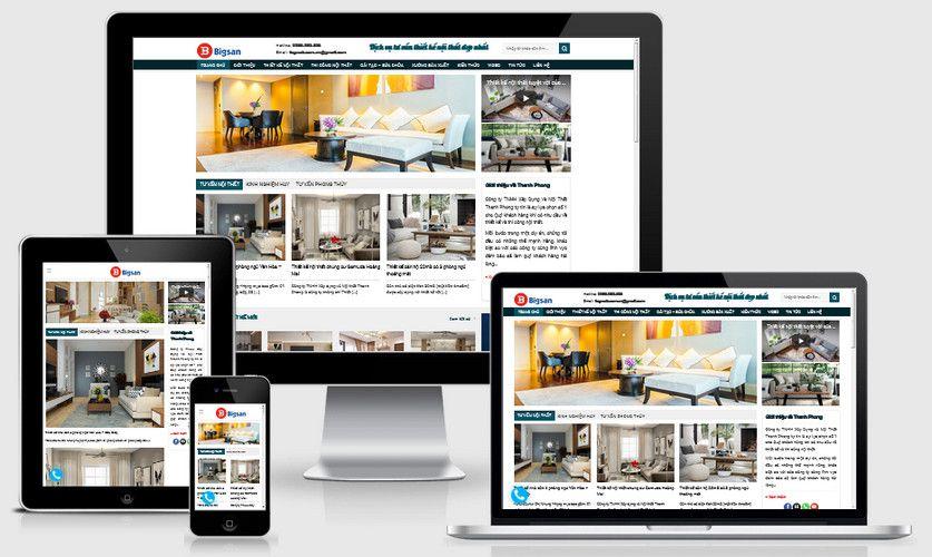 Mẫu website tư vấn thiết kế nội thất