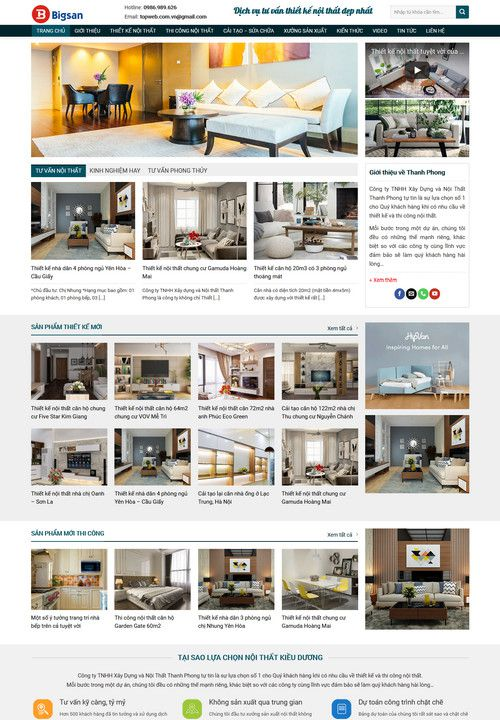 Mẫu website tư vấn thiết kế nội thất 9