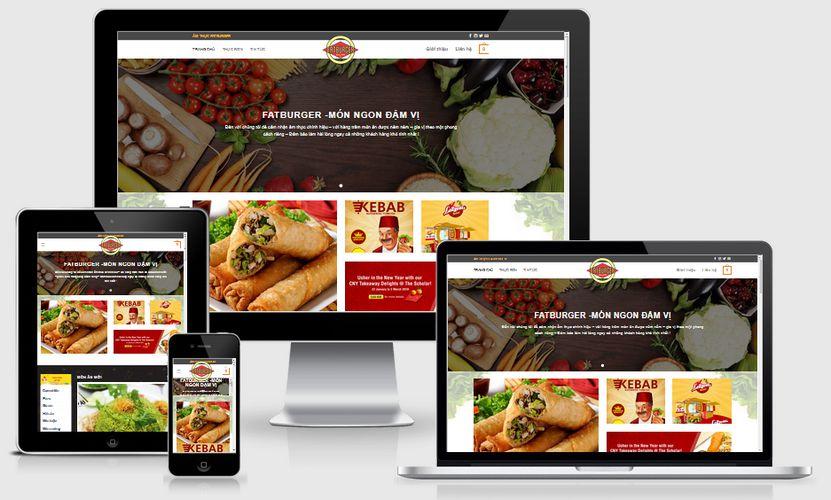 Mẫu website ẩm thực đẹp