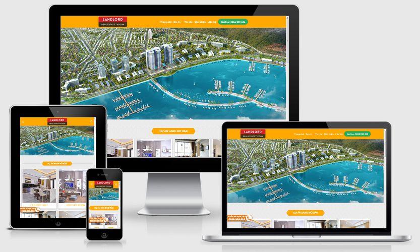 Mẫu website bán dự án