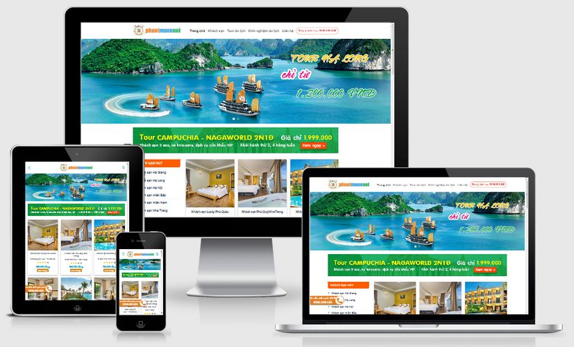 Mẫu website du lịch phượt
