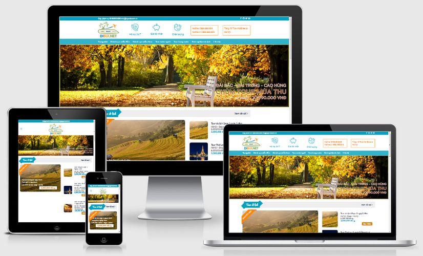 Mẫu website du lịch vùng miền
