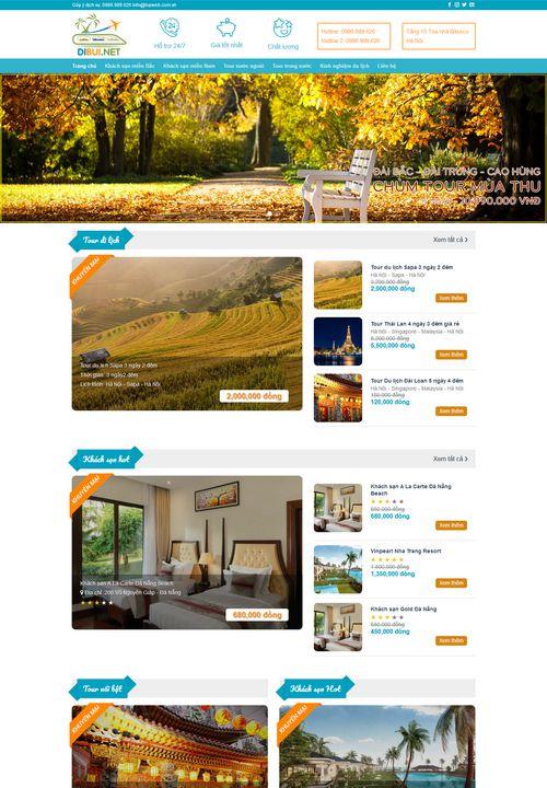 Mẫu website du lịch vùng miền 4