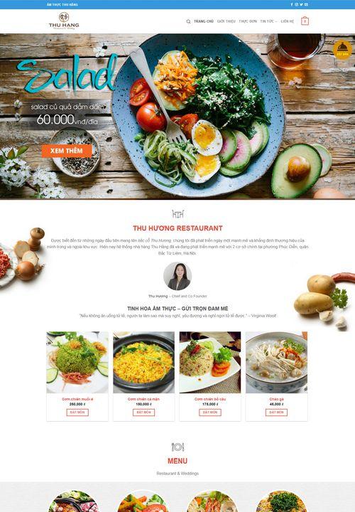 Mẫu website nhà hàng Thu Hằng 3