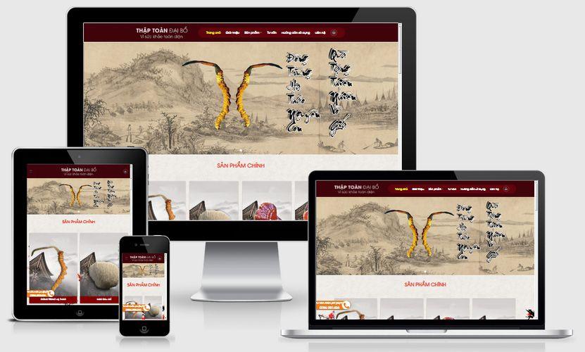 Mẫu website bán nhân sâm