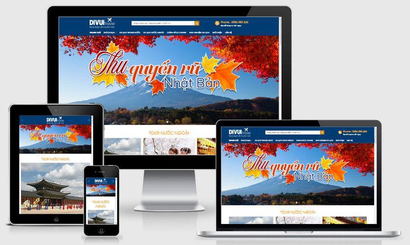 Mẫu website du lịch vui đẹp