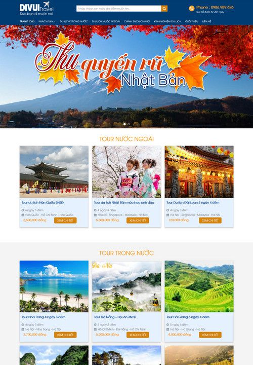Mẫu website du lịch vui đẹp 2