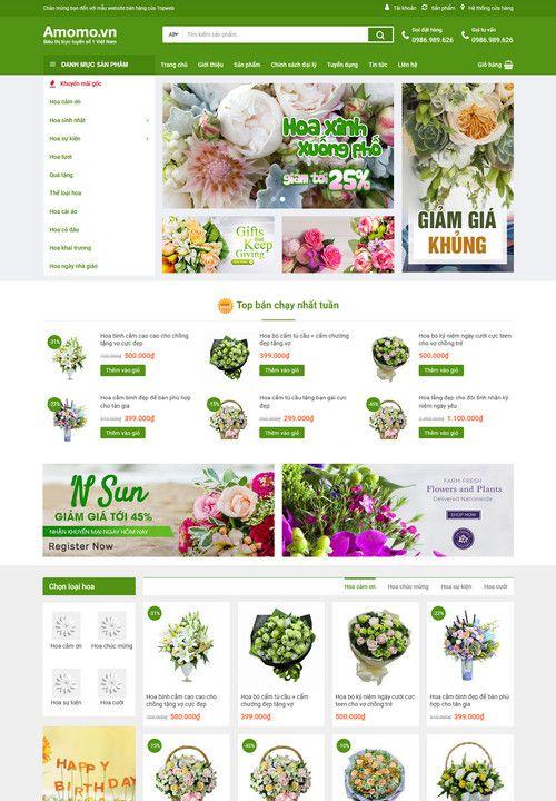 Mẫu website shop hoa yêu thương 9
