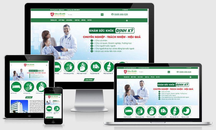 Mẫu website khám sức khỏe đẹp