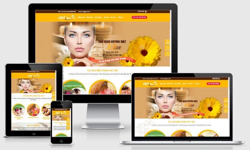 Mẫu website spa mai vàng đẹp