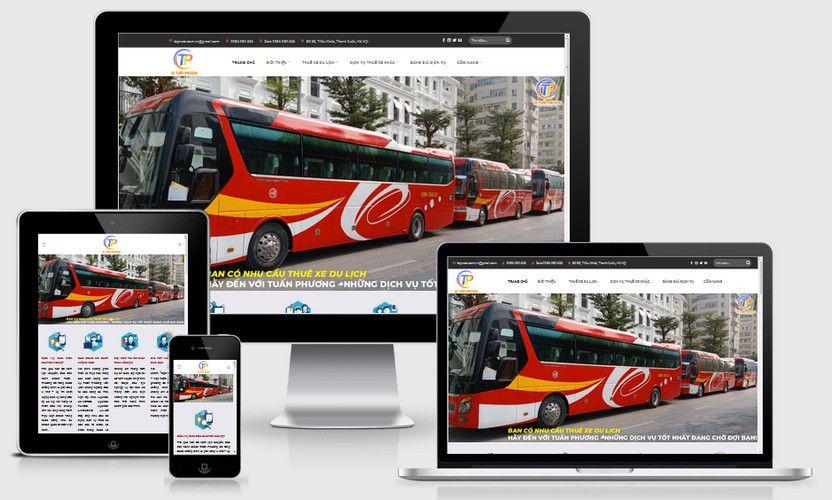 Mẫu website cho thuê xe đẹp
