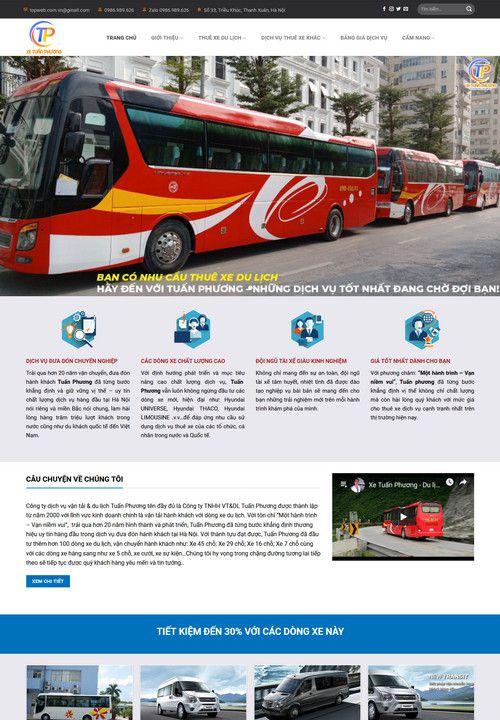 Mẫu website cho thuê xe đẹp 8