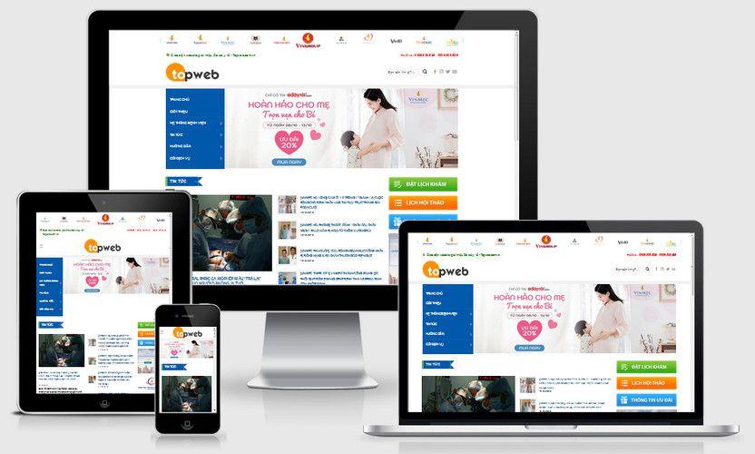 Mẫu website tin tức bệnh viện đẹp