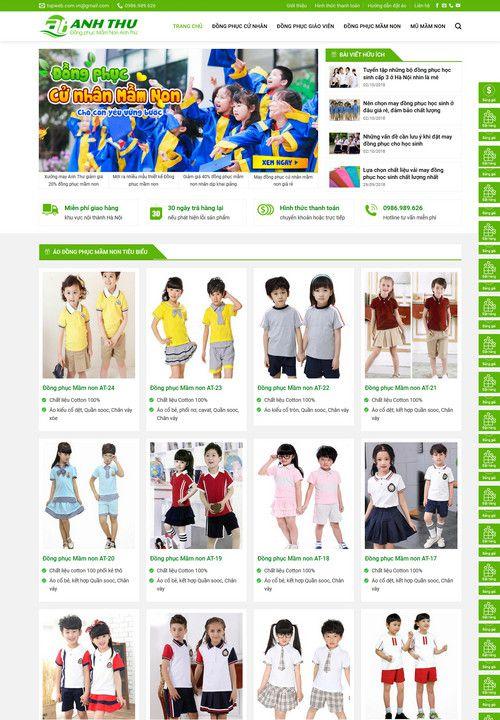 Mẫu website thiết kế đồng phục đẹp 4