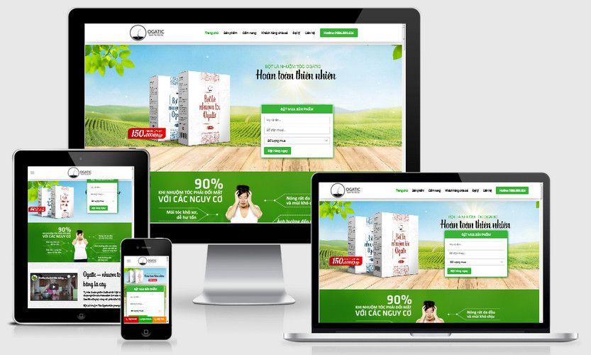Mẫu website dược phẩm chức năng đẹp