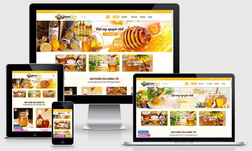 Mẫu website bán mật ong đẹp