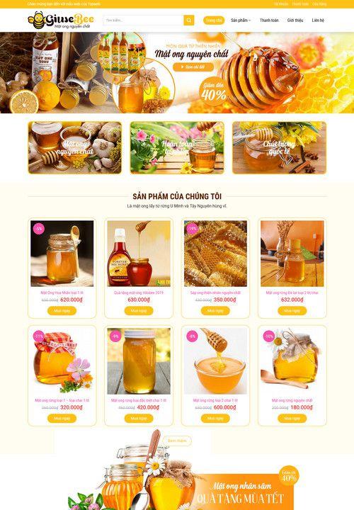 Mẫu website bán mật ong đẹp 5