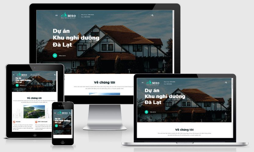 Mẫu website siêu thị dự án đẹp
