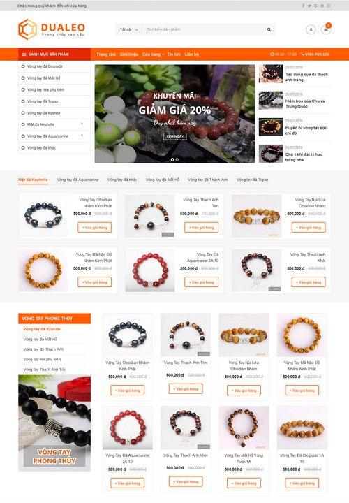 Mẫu website siêu thị phong thủy đẹp 6