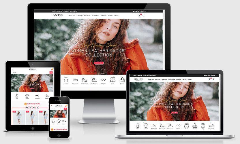 Mẫu website siêu thị thời trang đẹp