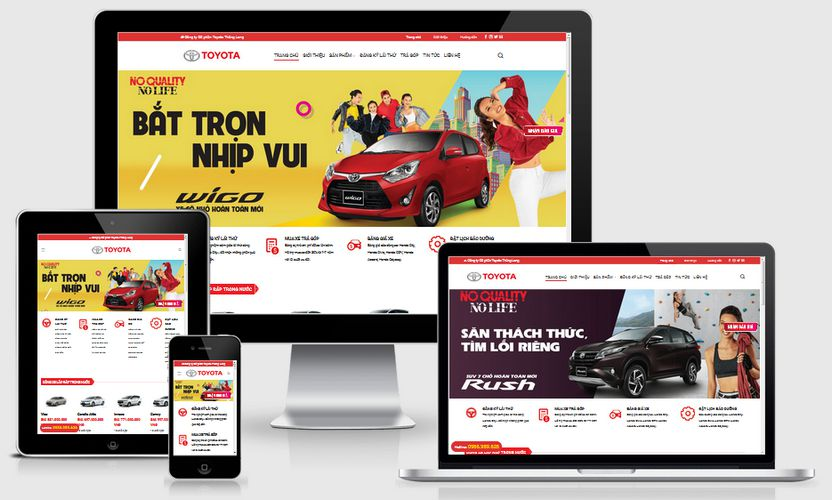 Mẫu website Toyota Thăng Long