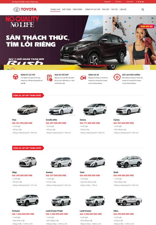 Mẫu website Toyota Thăng Long 7