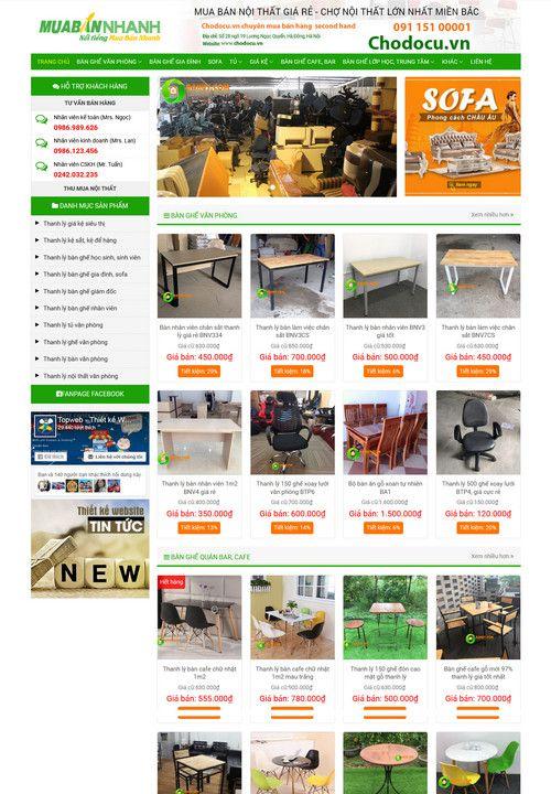 Giao diện website bán đồ cũ 8