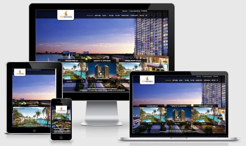 Giao diện website nhà đất căn hộ