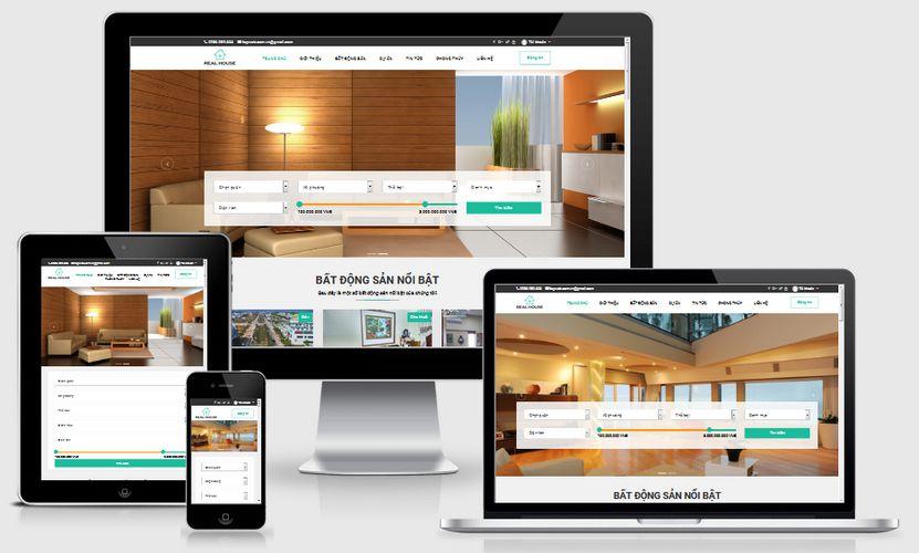 Mẫu website đăng tin bất động sản