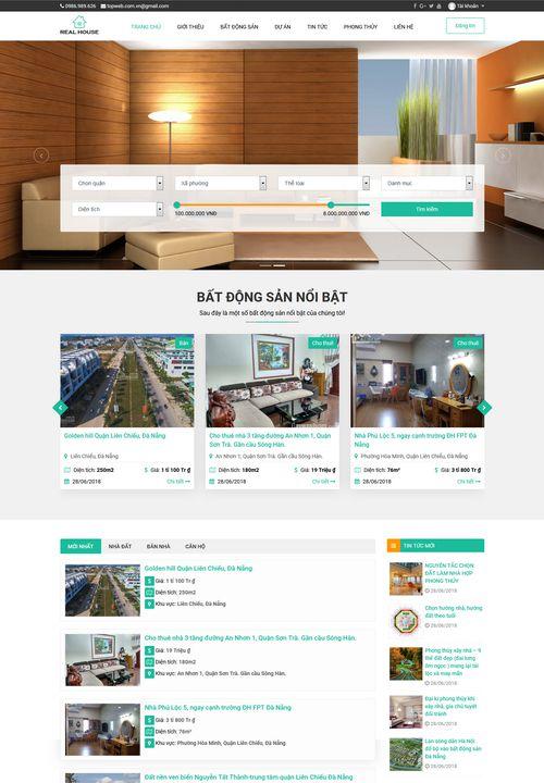 Mẫu website đăng tin bất động sản 3