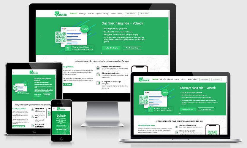 Mẫu website dịch vụ Check giá