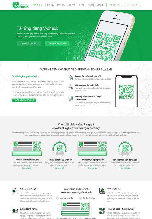 Mẫu website dịch vụ Check giá 9