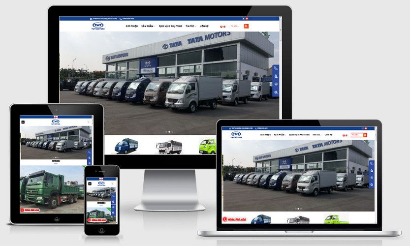 Mẫu website đại lý bán xe tải TMT