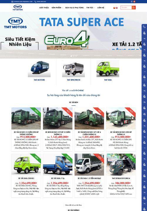Mẫu website đại lý bán xe tải TMT 5